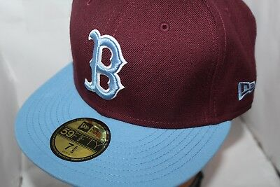 Boston Red Sox  New Era MLB Fusion Maroon and Baby Blue  59Fifty,Hat,Cap     NEW