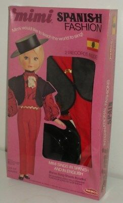 Mimi Spanish Fashion Outfit with 2 Records in Original Sealed Box (Remco,1973)