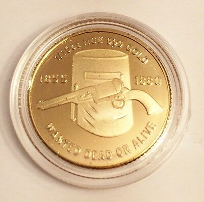 "New ""Ned Kelly #3"" 1/10th oz HGE 999 Gold Australiana Coin, Such is Life"