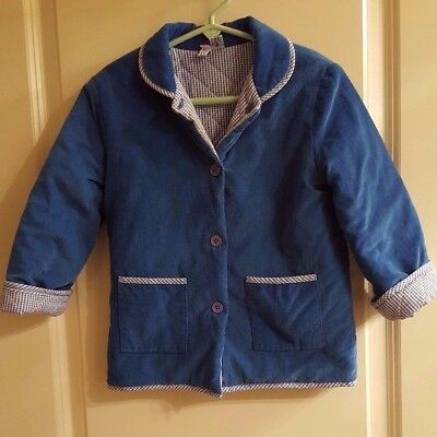 Orient Expressed Boy's Jacket~Royal Blue & Blue/White Checked~Sz 3
