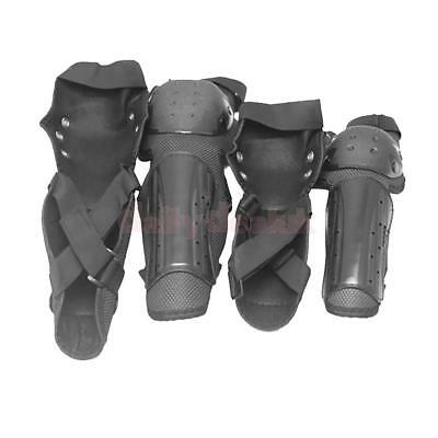 4 Pcs Adult Elbow Knee Shin Armor Guard Pads Protector for Motorcycle Bike