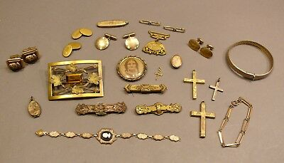 Antique Estate 19thC Victorian & Vintage Gold Filled Jewelry Lot Over 160 GRAMS!