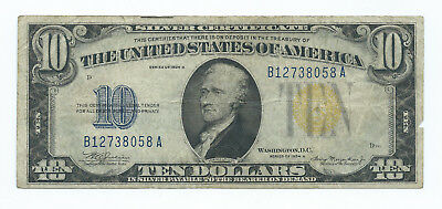 1934 A $10.00 == North Africa == Very Nice Note