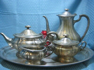 Large Antique German WMF Silver Plated Tea Set