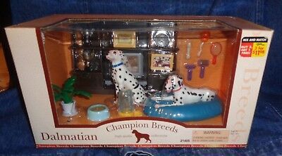 Dog Figures Dalmation Champion Breeds Keenway Collector Set w/Accessories