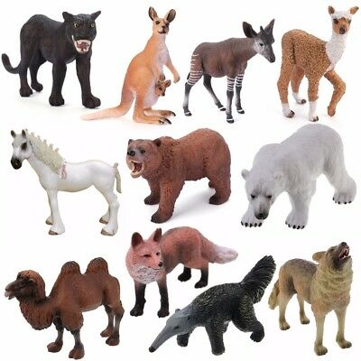 Realistic Wild/Zoo/Farm Animal Model Educational Toy Figure Kids Collectibles