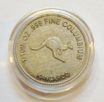 2012 1/10th of an OZ 999.0 Fine Columbium Bullion Coin (Kangaroo/Australia)