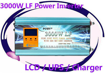 12000W/3000W LF Pure Sine Wave 48VDC/230VAC 50HZ Power Inverter LCD/UPS/Charger