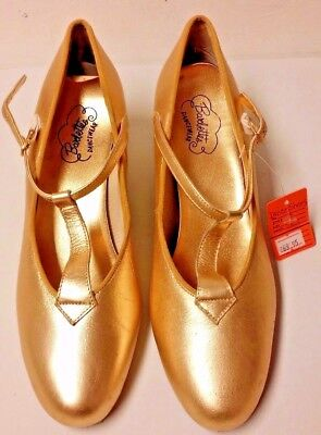 Barbettes womens size 9M Gold Dance Shoes Clogging Tap jazz square ballroom
