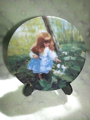 "Donald Zolan Miniature Plate ""Enchanted Forest"" 3rd in Childhood Discovery Serie"