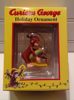 Curious George Monkey Holiday Christmas Tree Ornament