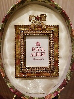 Royal Albert Old Country Roses Photo Frame , BRAND NEW IN BOX.