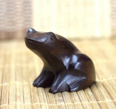 Vintage Wooden Hand Carved Frog From Peru 1/5 Inches