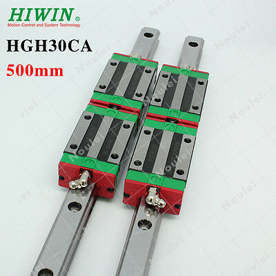 HIWIN Linear Guide Rail HGR30 500mm with HGH30CA Slider Block