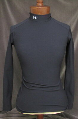 UNDER ARMOUR Women's ColdGear® Long Sleeve Compression Mock Top Small in Black