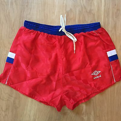 Vintage Umbro Shorts USA Colorway Size Large Red Soccer Track Running 80s 90s
