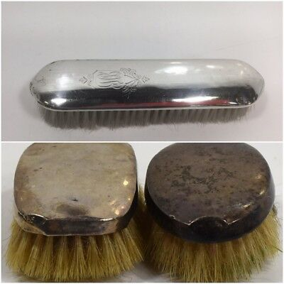 3X Antique Sterling Silver Hallmarked Brushes