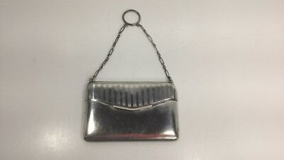Solid Sterling Silver Coin/Card Case, C1920, 76Gr.