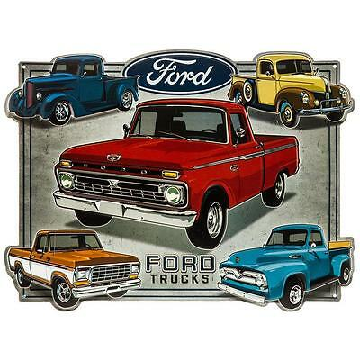 Ford Trucks Embossed Metal Tin Sign