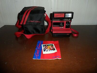 Vintage Polaroid Cool Cam 600 Camera - Black & Red - Estate Find