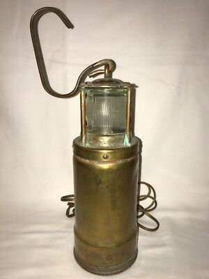 Antique Oldham Admiralty Mining Or Maritime Safety Lantern Ship Boat Lamp