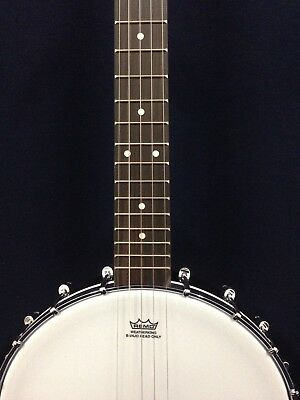 BJ-30 Caraya Open-Back 5-String Tenor Banjo,Gloss Milky Top,Black Matt+Free Bag