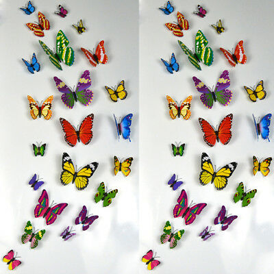 Wall Decor Stickers Hight Quality Butterfly 3D Magnetic Fridge Home Room