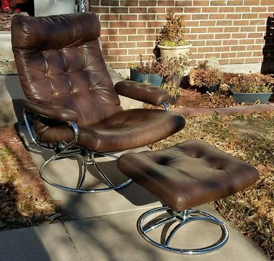 Local Pickup Ekornes Stressless Leather Recliner and Ottoman