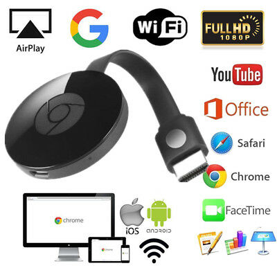 Für Google Chromecast 2nd Digital HDMI Media Video TV Streamer Wi-Fi 1080P