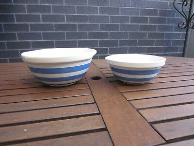 Vintage T.G Green Cornishware - Set of 2 Mixing Bowls  (2 of 2 listed)
