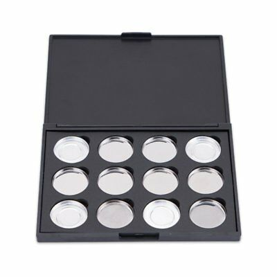 12 Pcs Empty Magnetic Makeup Palette DIY Eye Shadow Pigment Tray Holder Case US
