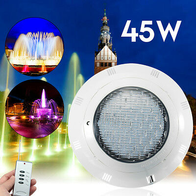 12V 45W LED RGB Underwater Swimming Pool Light Wall Mounted W/ Remote Control