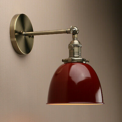 """6.3"""" Red Vintage Industrial Wall Light wall lamp Bronze Fixture w/switches"""