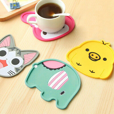 Lovely Cartoon  Silicone Heat Insulation Coffee Tea Cup Mug Mat Pad Coaster