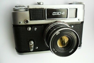 FED 4 35mm Leica style Soviet rangefinder tested and fully working