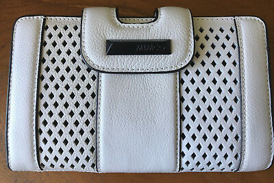 Mimco Catalyst XL Women's Wallet Clutch Leather White Authentic New RRP $269