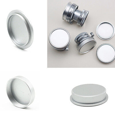 Rear Lens + Body Cap Cover Screw Mount for M39 Metal Silver New