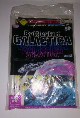 BATTLESTAR GALACTICA #1 to #3 OFFICIAL WHITMAN VINTAGE POLY-BAGGED SET! '79 mint
