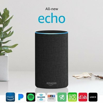 All New 2017 Amazon Echo 2nd Generation Alexa Smart Assistant - Charcoal Fabric