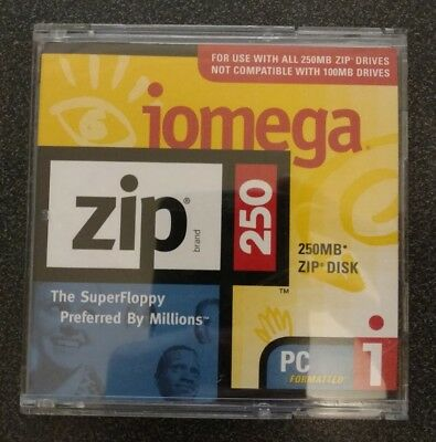 Iomega Zip Disk 250mb Unused