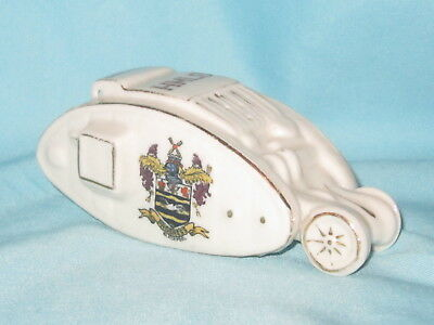 Carlton China WW1 Tank - BLACKPOOL crest