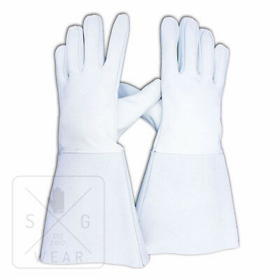 WELDER TIG LEATHER GLOVES -SG-GLOVES- FROM £3.60 pp / HIGH QUALITY GAUNTLETS