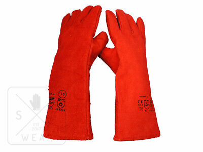 WELDER LEATHER GLOVES -SG-GLOVES- FROM £4.00 pp / HIGH QUALITY SAFETY GAUNTLETS