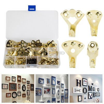 110Pcs Assorted Picture Hanging Kit Hook Set Wall Mounted Pictures Wire Hanger