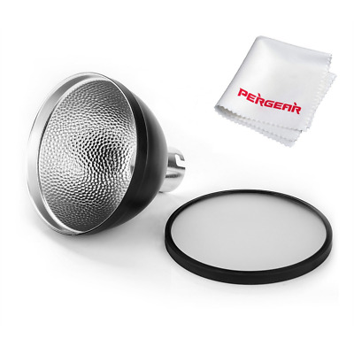 Godox AD-S2 Standard Reflector with Soft Diffuser and PERGEAR Cleaning Cloth for