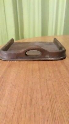 Antique Wooden/Copper DUSTPAN and BRUSH