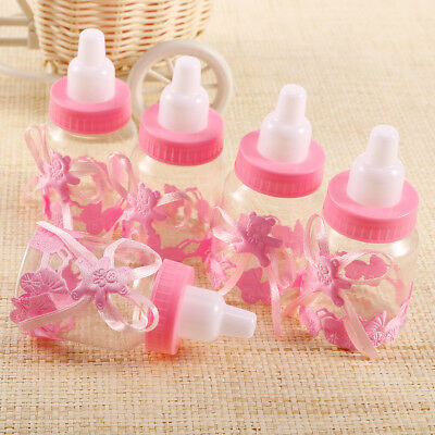 24 x Pink Bear Bottles Candy Box Baby Shower Baptism Party Favour Christening