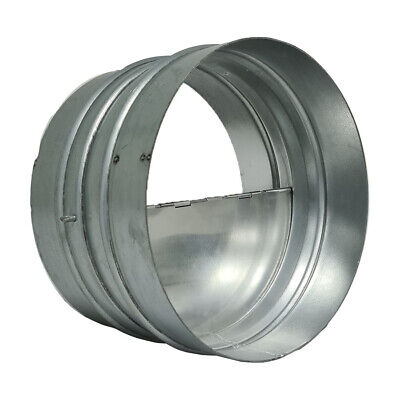 Hydroponics Back Draft Damper Round Metal For Extractor Fans, Ducting