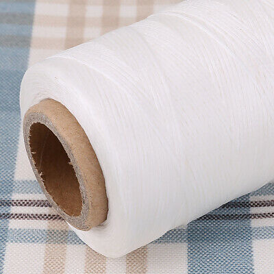 White 260 yard 0.8mm Leather Sewing Waxed Thread  for leatherCraft  repair