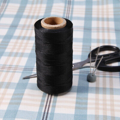 black 260 yard Leather Sewing Waxed Thread 0.8mm For AWL Shoes Luggage